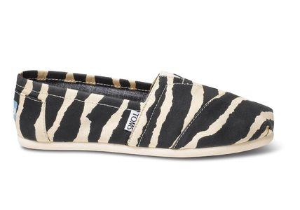 最短翌日着 TOMS Classic Zebra フラットシューズ ゼブラ TOMS(トムス) バイマ BUYMA
