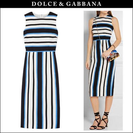 ドルチェ&ガッバーナ ストレッチクレープ ストライプ柄ドレス Dolce Gabbana(ドルチェ ガッバーナ) バイマ BUYMA