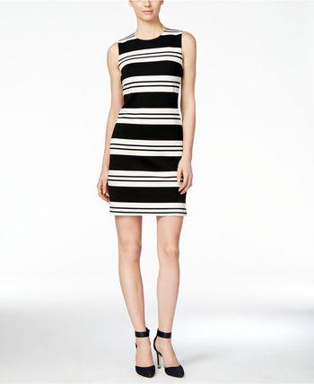 ★Calvin Klein(カルバンクライン)☆ストライプ柄ドレス Calvin Klein(カルバンクライン) バイマ BUYMA