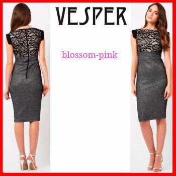 リプシーセレクト ブラックアンドシルバー ドレス ワンピース Vesper バイマ BUYMA