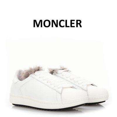 モンクレール ホワイトレザー Angeline スニーカー スニーカー MONCLER(モンクレール) バイマ BUYMA
