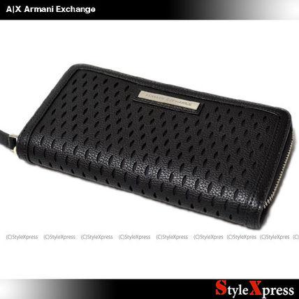 A Xアルマーニエクスチェンジ 女性用 ジッパー長財布 黒 A/X Armani Exchange(アルマーニエクスチェンジ) バイマ BUYMA