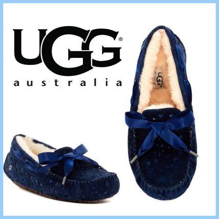【一点のみ】UGG ダコタ DAKOTA リボン スエードモカシン US6 UGG Australia(アグ オーストラリア) バイマ BUYMA