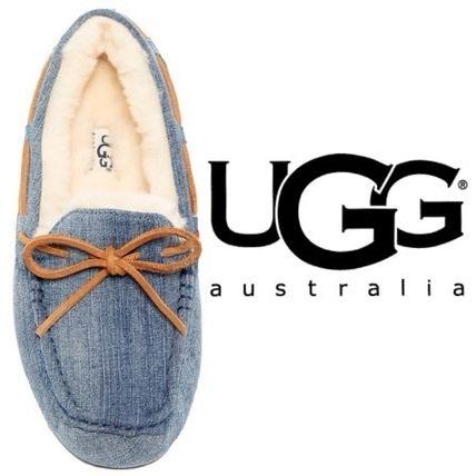 UGG☆完売間近ウォッシュドデニムDAKOTAフラットシューズ/ダコタ UGG Australia(アグ オーストラリア) バイマ BUYMA